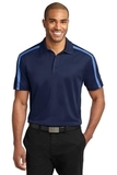 Silk Touch Performance Colorblock Stripe Polo Navy with Carolina Blue Thumbnail