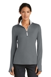 Women's Nike Golf Dri-FIT Stretch 1/2-Zip Cover-Up Dark Grey with White Thumbnail
