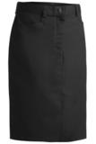 Women's Medium Length Chino Skirt Black Thumbnail
