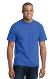 50/50 Cotton / Poly T-shirt With Pocket Royal Thumbnail