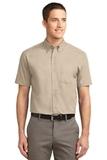 Tall Short Sleeve Easy Care Shirt Stone Thumbnail