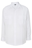 Class A 100 Polyester Long Sleeve Shirt White Thumbnail