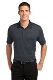 Fine Stripe Performance Polo Graphite with Black Thumbnail