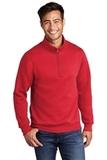 Core Fleece 1/4-Zip Pullover Sweatshirt Red Thumbnail