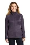Women's The North Face Canyon Flats Stretch Fleece Jacket Dark Eggplant Purple Heather Thumbnail