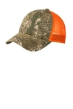 Structured Camouflage Mesh Back Cap Realtree Xtra with Neon Orange Thumbnail