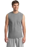 Ultra Cotton Sleeveless T-shirt Sport Grey Thumbnail