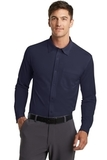 Port Authority Dimension Knit Dress Shirt Dark Navy Thumbnail