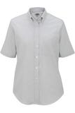 Women's Dress Button Down Oxford SS Light Grey Thumbnail