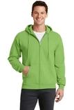 7.8-oz Full-zip Hooded Sweatshirt Lime Thumbnail