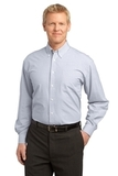 Plaid Pattern Easy Care Shirt White Thumbnail