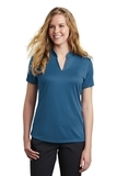 Women's Nike Golf Dri-FIT Hex Textured V-Neck Top Court Blue Thumbnail