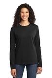 Women's Long Sleeve 5.4-oz 100 Cotton T-shirt Jet Black Thumbnail