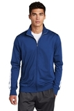 Tricot Track Jacket True Royal with White Thumbnail