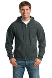 Full-zip Hooded Sweatshirt Dark Heather Grey Thumbnail