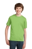 Youth Essential T-shirt Lime Thumbnail