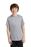 Youth Essential Performance Tee Silver Thumbnail