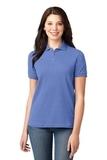 Women's Pique Knit Polo Shirt Blueberry Thumbnail