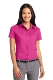 Women's Short Sleeve Easy Care Shirt Tropical Pink Thumbnail