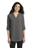 Women's 3/4-Sleeve Tunic Blouse Sterling Grey Thumbnail