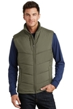 Puffy Vest Olive with Cayenne Thumbnail