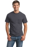 Ultra Cotton 100 Cotton T-shirt With Pocket Charcoal Thumbnail
