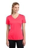Women's V-neck Competitor Tee Hot Coral Thumbnail