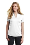 Women's Nike Golf Dri-FIT Hex Textured V-Neck Top White Thumbnail