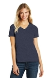 Women's Made Perfect Blend V-Neck Tee Heathered Navy Thumbnail