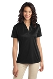 Port Authority Ladies Silk Touch Performance Polo Black Thumbnail