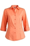3/4 Sleeve Stretch Broadcloth Blouse Coral Thumbnail