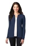 Women's Concept Stretch Button-Front Cardigan Dress Blue Navy Thumbnail
