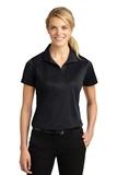 Women's Micropique Moisture Wicking Polo Shirt Black Thumbnail