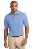 Tall Pique Knit Polo Shirt Light Blue Thumbnail