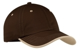 Vintage Washed Contrast Stitch Cap Brown with Stone Thumbnail
