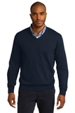 Port Authority V-neck Sweater Navy Thumbnail