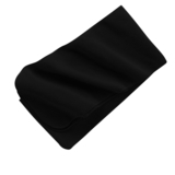 Extra Long Fleece Scarf Black Thumbnail