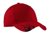 Racing Cap With Flames Red with Black Thumbnail