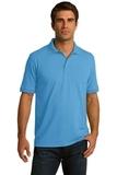 Port Company Tall 5.5-ounce Jersey Knit Polo Aquatic Blue Thumbnail