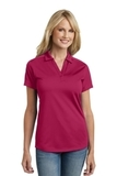 Women's Diamond Jacquard Polo Dark Fuchsia Thumbnail