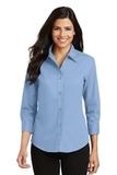 Women's 3/4-sleeve Easy Care Shirt Light Blue Thumbnail