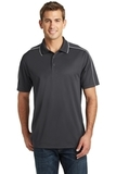 Micropique Sport-wick Piped Polo Iron Grey with White Thumbnail