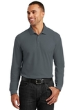 Long Sleeve Core Classic Pique Polo Graphite Thumbnail