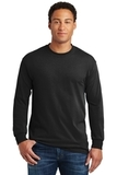 Heavy Cotton 100 Cotton Long Sleeve T-shirt Black Thumbnail
