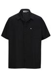 Button Front Utility Shirt Black Thumbnail