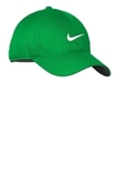 Nike Golf Dri-fit Swoosh Front Cap Lucky Green with White Thumbnail