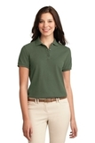 Women's Silk Touch Polo Shirt Clover Green Thumbnail