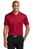 Silk Touch Performance Colorblock Stripe Polo Red with Black Thumbnail