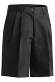 Women's Utility Pleated Chino Short Black Thumbnail