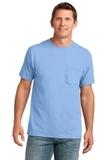 5.4-oz 100 Cotton Pocket T-shirt Light Blue Thumbnail